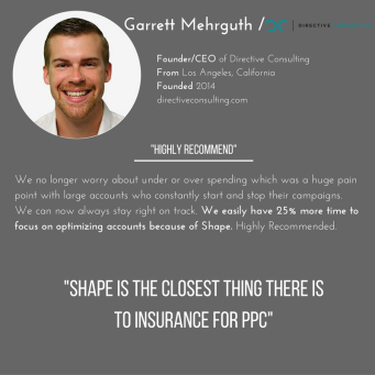 Shape Integrated Software helps Analyst garrett mehrguth of Directive Consulting