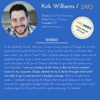 Shape Integrated Software helps Analyst and thought leader kirk williams of ZATO